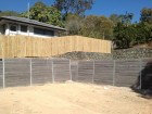 Concrete sleeper wall Mt Gravatt